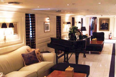 Another one of the lounges aboard the Christina O vessel.